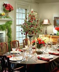 Dining Room Christmas Decorations Stunning Decor Ideas Table Pictures