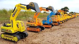 100 Kids Dump Trucks Toy Cars Playing For Excavator Road Roller Truck