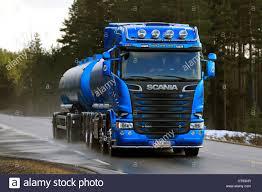 100 Bulk Truck And Transport SALO FINLAND MARCH 4 2017 Blue Scania R580 Tank Truck For Bulk