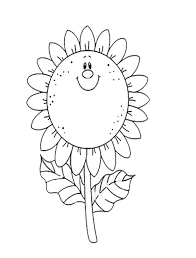 Free Coloring Pages For Kids With Flowers