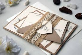 Rustic Wedding Invitation Kits Lace Kit Autumn