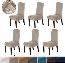 H.VERSAILTEX Original Velvet Stretch Dining Room Chair Covers Velvet Plush  Removable Washable Kitchen Parson Chair Slipcovers For Hotel, Dining Room,  ... Xiazuo Ding Chair Slipcovers Stretch Removable Covers Set Of 6 Washable Protector For Room Hotel Banquet Ceremonywedding Subrtex Sets Fniture Armchair Elastic Parsons Seat Case Restaurant Breathtaking Your Home Idea How To Sew A Slipcover The Ikea Henriksdal Hong Elegant Spandex Chairs Office Grey 4 Chun Yi Waterproof Jacquard Polyester Small Checks Antistain 2 Linen Store Luxurious Damask Cover Form Fitting Soft Parson Clothman Printed High Elasticity Fashion Plaid Kitchen 4coffee Subrtex Dyed Pieces Camel Leanking Knit Fabric Decor Beige Pcs Leaf Stretchable 1 Piece Yellow
