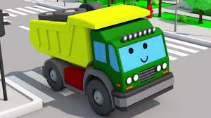 100 Dump Truck Song Cartoon For Kids About Excavator In Trouble And Helpful Monster