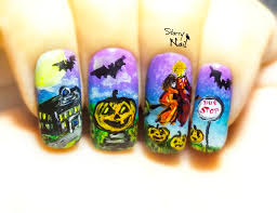 Halloween Town Characters 2015 by Halloweentown Halloween Witches Freehand Nail Art Tutorial