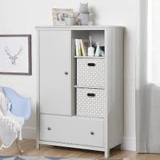 10469 Soft Gray Armoire With Drawer