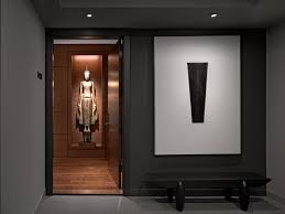 Front Foyer Entry Asian With Wood Flooring Ceiling Lighting