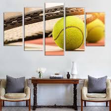 dekoration für home wohnzimmer moderne hd gedruckt 5 stück tennis sport gemälde wand kunst modulare leinwand bilder rahmen poster