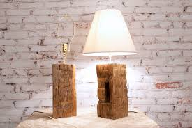 Hand Crafted Barn Beam Lamp Pair , Rustic Country Accent Hand Hewn ... Decoration Rose Lamp Shade White Drum The Concrete Cottage Glass Bottle Diy Pottery Barn Knock Off Floor Lamps Ebay Best 25 Lighting Ideas On Pinterest Rustic Porch Decorative Burlap Laluz Nyc Home Design Desk Lighting And Antique Mercury Shades Ideas Ruffle For Table Accsories Capiz West Elm Shell Linen Tapered Au Silk Surprising Value Of Colored Textured Or Patterned Lampshades