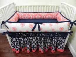custom baby bedding set halle baby bedding navy and
