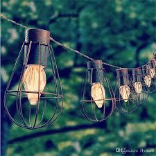 10led Solar Garden Light Led Solar Bulb Vintage Cage String Light