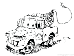 Cars Coloring Pages Full Color Free Page Printable Disney Games Colouring Online Mater Size