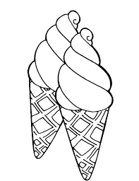 Coloring Pages Of Ice Cream Cones 13 Page Printable Poster