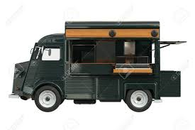 100 Green Food Truck Truck Green Eatery With Open Doors Side View 3D Rendering