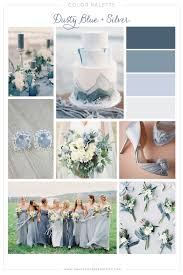 Dusty Blue And Silver Wedding Color Palette