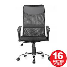 Adjustable Mesh Office Chair With Fixed Arms , High Back , Black -  Moustache® - 1/Pack Tone High Back Ergonomic Office Chair Office Chairs And Ergonomic Computer Staples Puula Officemate Homall Gaming Chair Racing High Back Leather Desk Adjustable Swivel Manage With Headrest Lumbar Support Black Sl4000 Blackcarbon Edition Gamestop Dania Fniture Humanscale Solutions Markus Chair Glose Black Robust Ea117 Eames Household Seat Covers Pu Executive