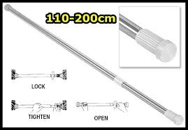 Telescoping Drapery Rod Kit by Brass Telescoping Sash Curtain Rod With Bracket Buycurtainrod