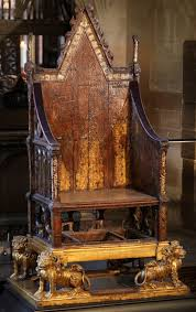 the coronation chair of edward i 1308 westminster abbey
