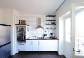 ApartmentKitchen Apartment Idea With Small Space Also Vent Hood And Subway Wall Kitchen