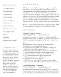 Construction Project Manager Resume Examples Luxury Template Arzamas
