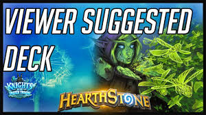 Hunter Hearthstone Deck Kft by Hearthstone Jade Druid Viewer Suggested Deck Kft 2017 Youtube