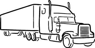 Semi Truck Clipart Black And White | Free Download Best Semi Truck ...
