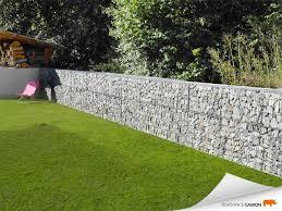 mur de separation exterieur tendance gabion petit mur de séparation gabion