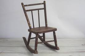 Chair Vintage Childs Rocking Chair Antique Rustic Wooden ...