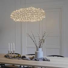 elegante led pendelleuchte l 75 cm gold schwebende wolke inkl led 15 w rund warmweißes licht