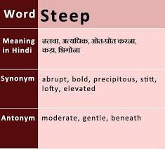 Decoration Synonyms In Hindi by Steep Meaning In Hindi English Vocabulary Pinterest English