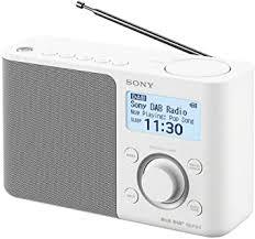 sony xdr s61d tragbares digitales radio ukw dab dab senderspeicher rds funktion wecker batterie und netzbetrieb weiß