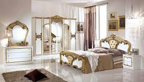 schlafzimmer set elisa weiss gold 7 teilig 160x200 cm mit schrank 6 türig