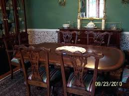 ethan allen dining room furniture used table pads leaf mahogany