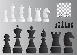 Chess Board And Pieces Free Vector