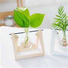 hydrokultur pflanzen vase transparente glas flasche kreative terrarium home holzrahmen blumentopf wohnzimmer tabletop bonsai decor