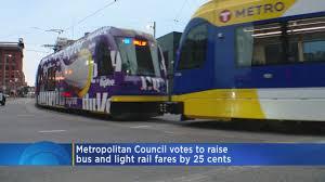 Metro Transit Bus LRT Rates Going Up In October