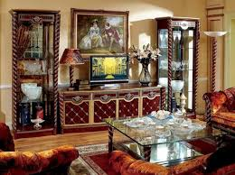 barock rokoko wohnzimmer vitrine kommode wohnwand antik sil möbel 3 teilig holz