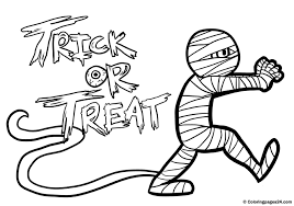 Halloween Mummies Coloring Pages Mummy Printable