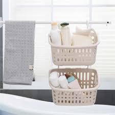 kunststoff hängen dusche korb mit haken für bad schlafzimmer küche schutt lagerung halter körbe bad küche regal d