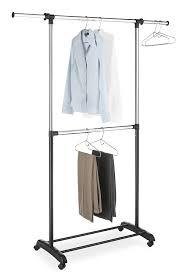 Amazon Whitmor Adjustable 2 Rod Garment Rack Black & Chrome