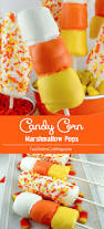 Rice Krispie Halloween Treats Candy Corn by Candy Corn Marshmallow Pops Two Sisters Crafting