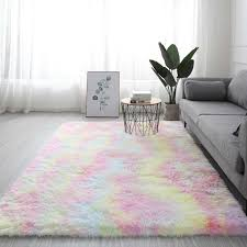 neue regenbogen farben teppiche krawatte färben plüsch