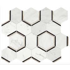 american olean mosaic tile shop american olean genuine carrara honeycomb mosaic marble