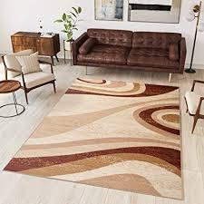 tapiso teppich wohnzimmer modern kurzflor creme beige braun meliert wellen streifen esszimmer küche schlafzimmer ökotex 300 x 400 cm