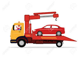 Vector Man In Tow Truck Driven Emergency Vehicle Royalty Free ...