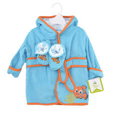 finding nemo bath robe and booties set disney baby