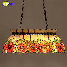 fumat stained glass pendant l sunflower mutil color glass