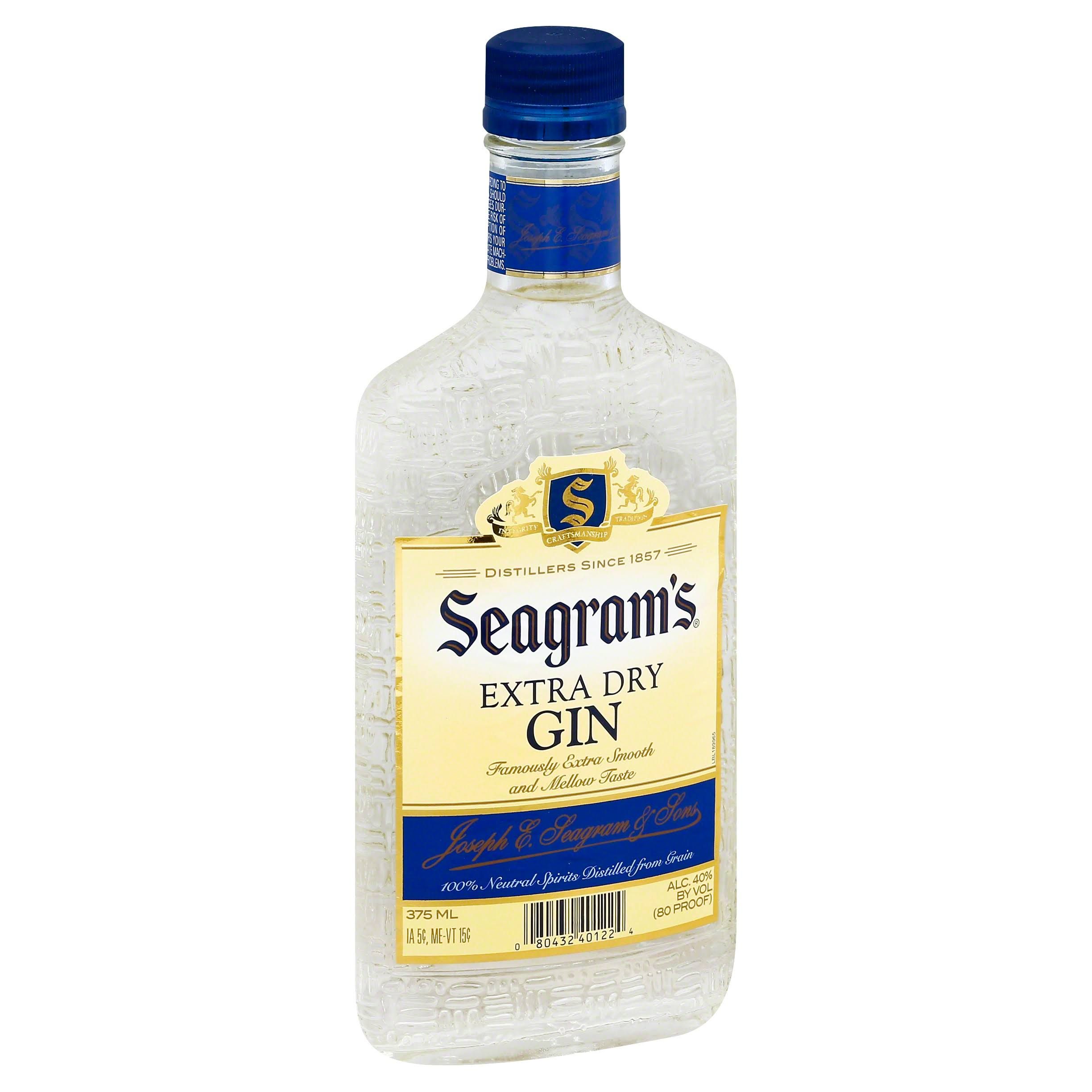 Seagrams Gin, Extra Dry - 375 ml