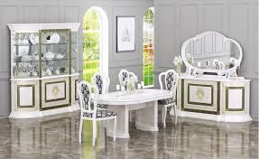 barock esszimmer set limnos in beige mit 4 teilen