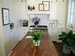 Image Of Butcher Block Dining Table With Leaf