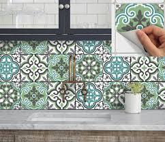 stickers cuisine carrelage tile sticker kitchen bath floor wall waterproof removable peel